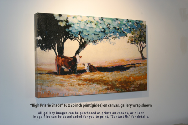 High Prairie Shade, print on canvas, gallery wrap shown