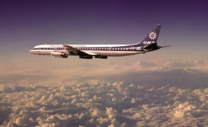 Overseas National Airways DC-8 inflight, circa 1974
